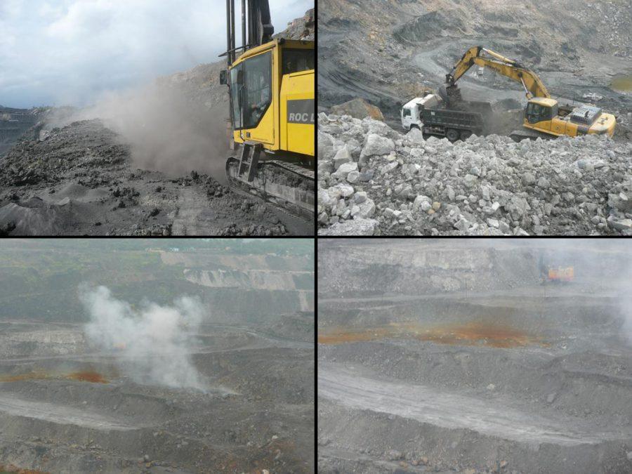 Abbildung 2: Fotos des Nui Beo Tagebaugebietes